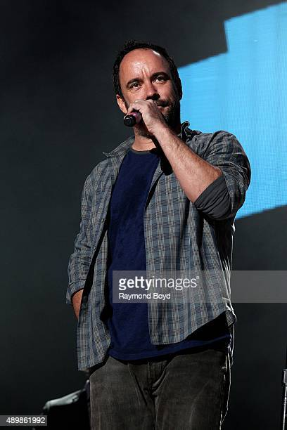 Musician and Singer Dave Matthews from The Dave Matthews Band performs at FirstMerit Bank Pavilion at Northerly Island during 'Farm Aid 30' on...