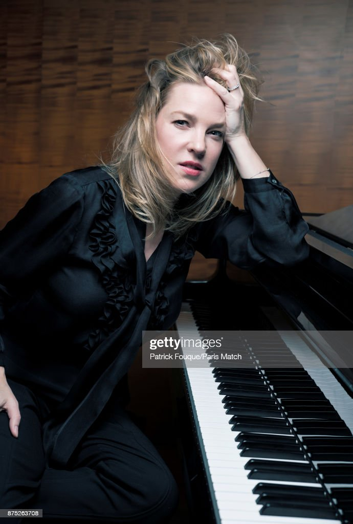 Musician and singer Diana Krall is photographed for Paris Match on May 9, 2017 in Paris, France.