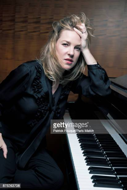 Musician and singer Diana Krall is photographed for Paris Match on May 9 2017 in Paris France