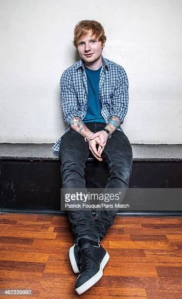 Musician and singer Ed Sheeran is photographed for Paris Match on July 16 2014 in Paris France