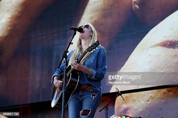 Musician and Singer Holly Williams performs at FirstMerit Bank Pavilion at Northerly Island during 'Farm Aid 30' on September 19 2015 in Chicago...