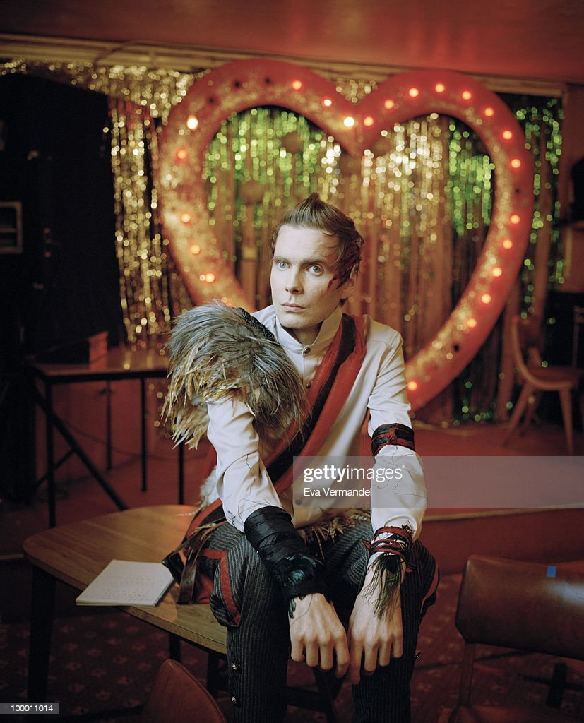 Musician and singer Jonsi Birgisson poses for a portrait shoot in London on April 19, 2010.