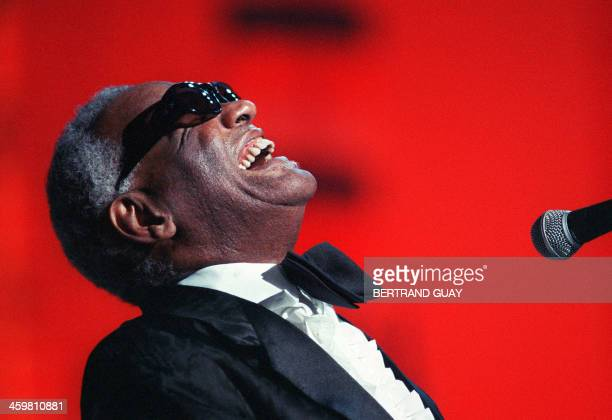 US musician and singer Ray Charles performs 30 June 1988 in Paris Charles legendary musician dubbed the Genius of Soul during an acclaimed sixdecade...