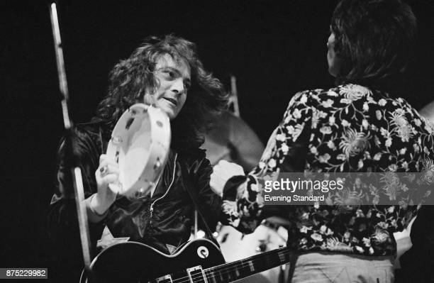 Musician and singer Steve Marriott performs with the Small Faces, UK, 26th September 1977.