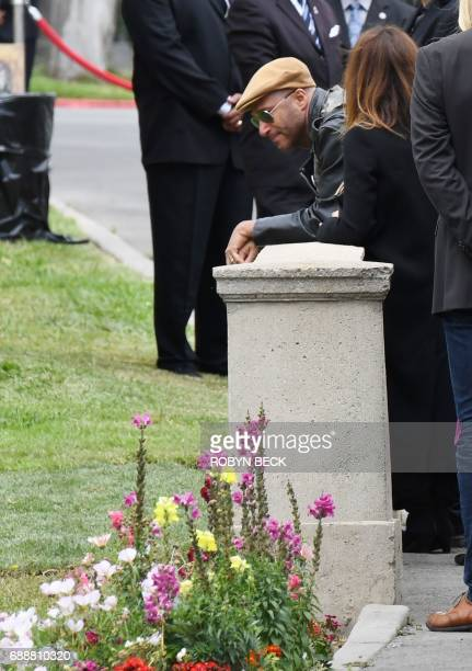 Musician and singer Tom Morello attends the funeral and memorial service for Soundgarden frontman Chris Cornell May 26 2017 at Hollywood Forever...