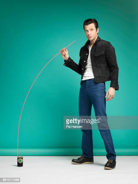 Musician and singer with the rock band the KIllers, Brandon Flowers is photographed for the Observer on July 12, 2017 in London, England.