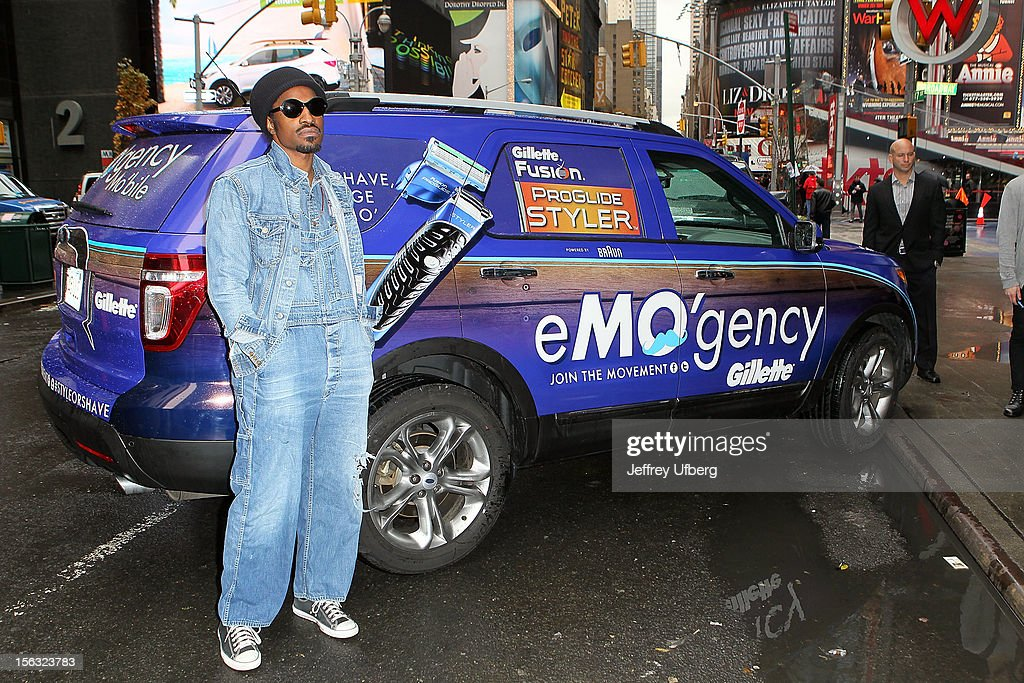 Musician Andre 3000 joins Gillette in support of Movember on November 13, 2012 in New York City.