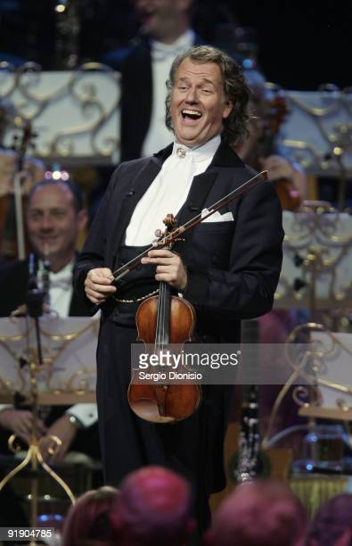 Musician Andre Rieu performs on stage at Acer Arena on October 15 2009 in Sydney Australia