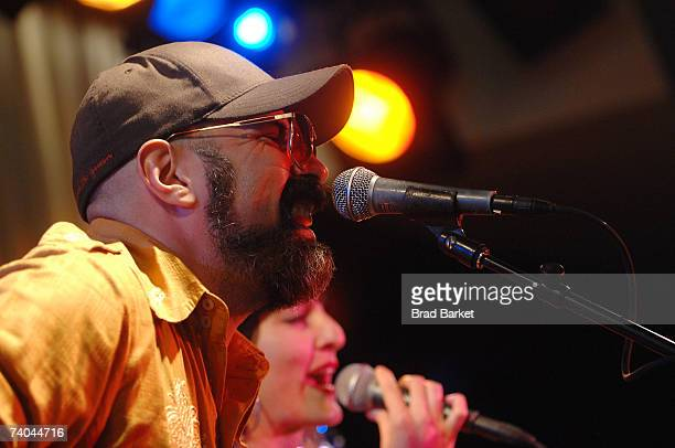 Musician Andres Levis of the band Yerba Buena performs onstage at the ASCAP Tribeca Music Lounge held at the Canal Room during the 2007 Tribeca Film...