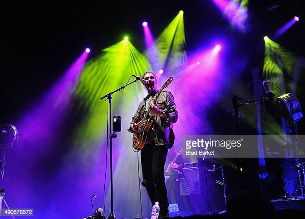 Musician Andrew HozierByrne performs at Hozier in Concert on stage at Radio City Music Hall on September 29 2015 in New York City