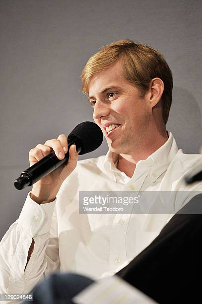 Musician Andrew McMahon from Jack's Mannequin visits the Apple Store Soho on October 10, 2011 in New York City.