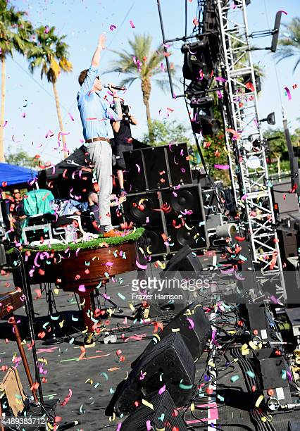 Musician Andrew McMahon of Andrew McMahon in the Wilderness performs onstage during day 2 of the 2015 Coachella Valley Music Arts Festival at the...