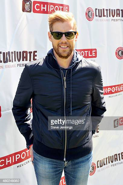 Musician Andrew McMahon poses backstage during Chipotle's Cultivate San Francisco Food Music and Ideas Festival at Golden Gate Park on June 7 2014 in...