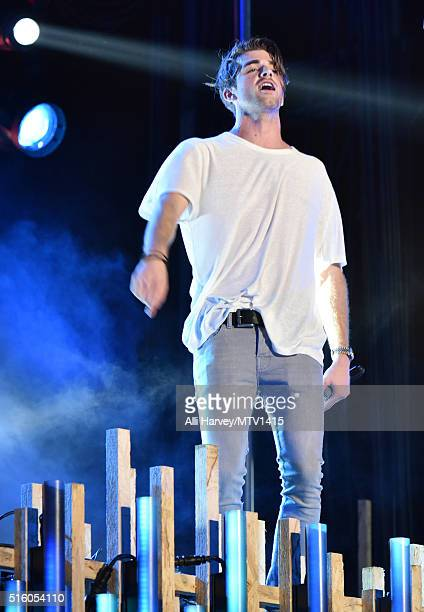 Musician Andrew Taggart of The Chainsmokers performs onstage during the 2016 MTV Woodies/10 For 16 on March 16 2016 in Austin Texas