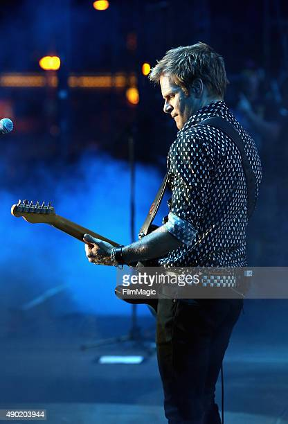 Musician Andrew Taylor of Duran Duran performs onstage during day 2 of the 2015 Life is Beautiful festival on September 26 2015 in Las Vegas Nevada