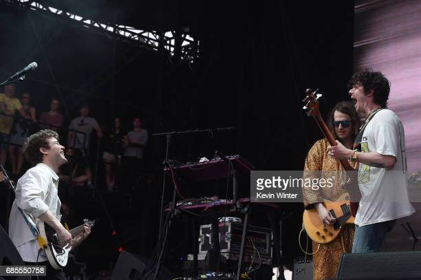 Musician Andrew VanWyngarden of MGMT performs at the Hangout Stage during 2017 Hangout Music Festival on May 19 2017 in Gulf Shores Alabama
