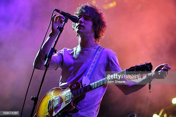 Musician Andrew Vanwyngarden of MGMT performs during Day 2 of the Coachella Valley Music Art Festival 2010 held at the Empire Polo Club on April 17...