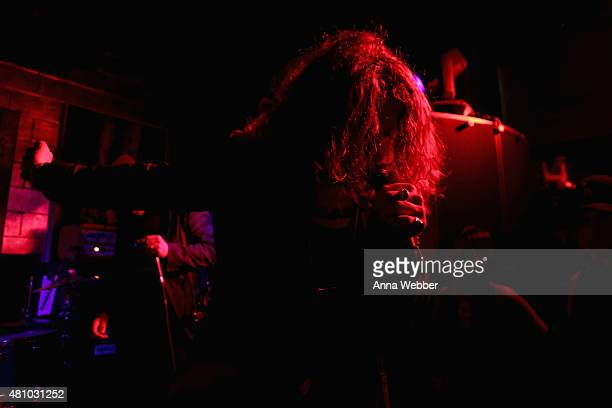 Musician Andrew Watt performs on stage at the John Varvatos fashion show after party at Electric Room on July 16 2015 in New York City