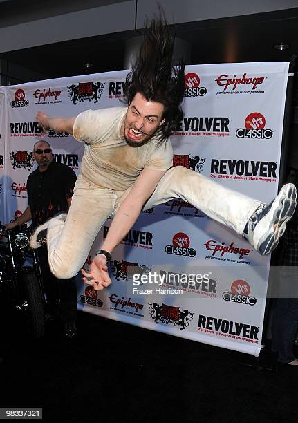 Musician Andrew WK arrives at the 2nd annual Revolver Golden Gods Awards held at Club Nokia on April 8 2010 in Los Angeles California