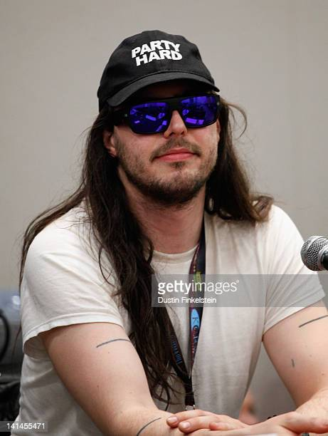 Musician Andrew WK speaks onstage at Blood Music Sex Magick during the 2012 SXSW Music Film Interactive Festival at Austin Convention Center on March...