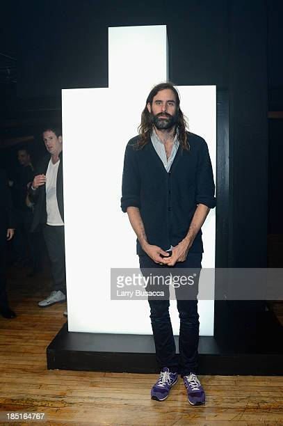 Musician Andrew Wyatt attends the Burberry Brit Rhythm Men's Launch in New York at Irving Plaza on October 17 2013 in New York City