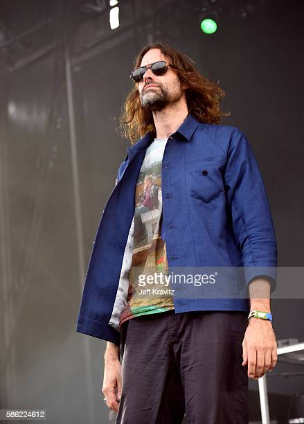 Musician Andrew Wyatt of Miike Snow performs on the Lands End Stage during the 2016 Outside Lands Music And Arts Festival at Golden Gate Park on...
