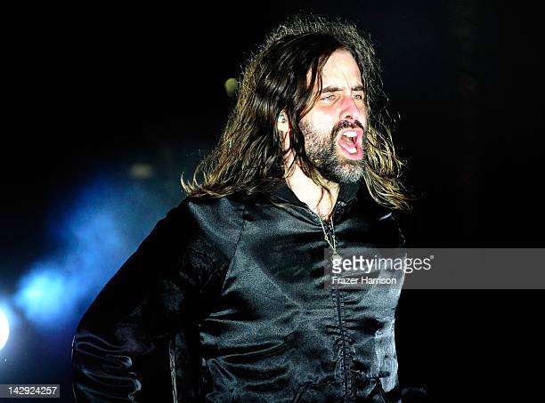 Musician Andrew Wyatt of the band Miike Snow performs during Day 2 of the 2012 Coachella Valley Music Arts Festival held at the Empire Polo Club on...