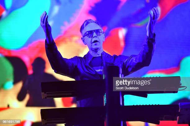 Musician Andy Fletcher of the band Depeche Mode performs onstage at Honda Center on May 22 2018 in Anaheim California