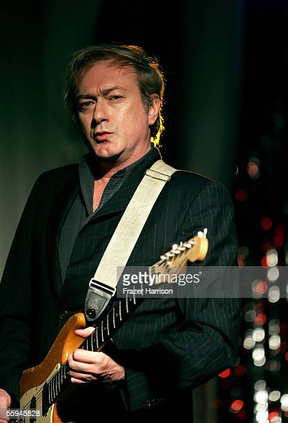 Musician Andy Gill of the band Gang of Four performs during the grand opening of the Flagship West Coast Virgin Megastore Hollywood held at the...