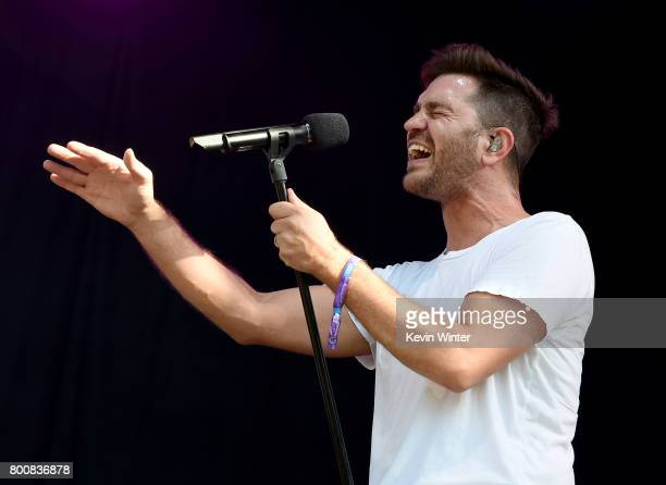 Musician Andy Grammer performs on The Oak stage during Arroyo Seco Weekend at the Brookside Golf Course at on June 25 2017 in Pasadena California