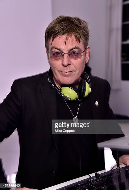 Musician Andy Rourke DJs at LilySarahGrace Presents Color Outside The Lines on October 25 2014 in New York City