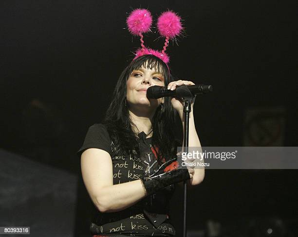 Musician Anette Olzon of Nightwish performs on stage during the Nightwish Concert March 26 2008 at Astoria in London England