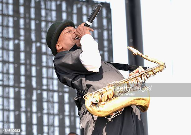 Musician Angelo Moore of Fishbone performs onstage during day 3 of the 2014 Coachella Valley Music Arts Festival at the Empire Polo Club on April 13...