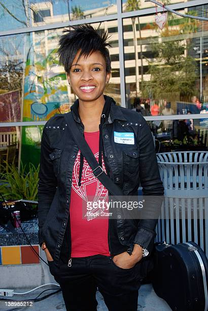 Musician Angie Swan attends Trueheart Events 1st annual All You Need Is Love Valentine's Day Party at Children's Hospital Los Angeles on February 14...