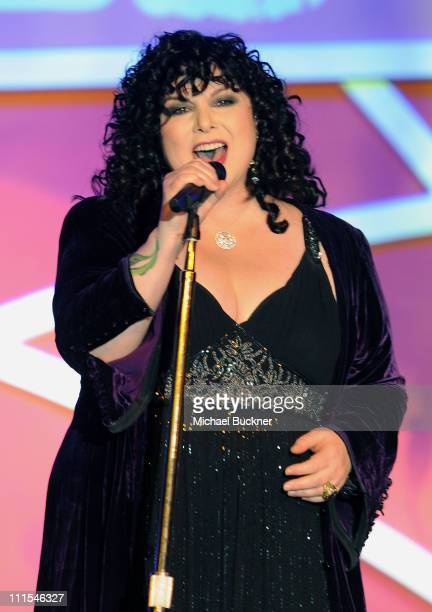 Musician Ann Wilson of Heart performs onstage during the 17th Annual Race to Erase MS event co-chaired by Nancy Davis and Tommy Hilfiger at the Hyatt...
