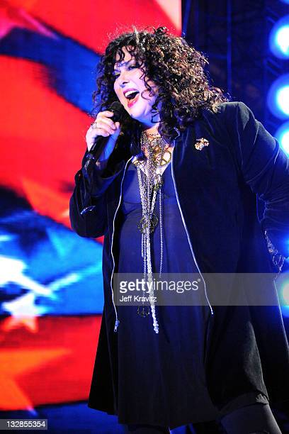 Musician Ann Wilson of Heart performs onstage during 'VH1 Divas Salute the Troops' presented by the USO at the MCAS Miramar on December 3 2010 in...