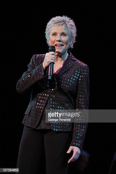 Musician Anne Murray performs at The 6th Annual 'It's Always Something' Variety Show in Support of the Gilda's Club at the Elgin Theatre on November...