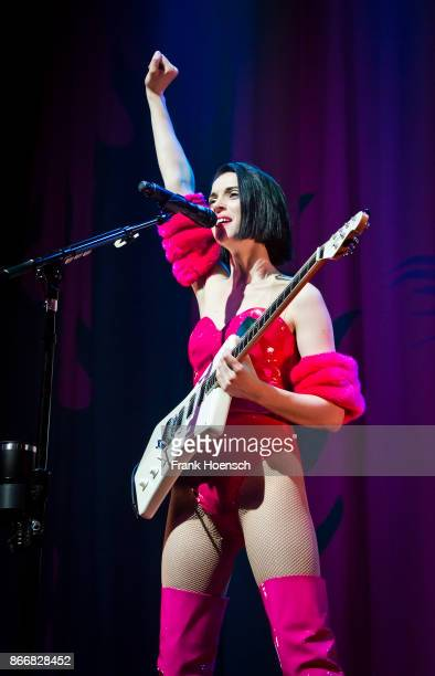 Musician Annie Clark aka St Vincent performs live on stage during a concert at the Huxleys on October 26 2017 in Berlin Germany