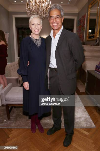 Musician Annie Lennox and founder of mothers2mothers Dr Mitch Besser attend as Marigay McKee and Bill Ford celebrate the opening of pioneering...