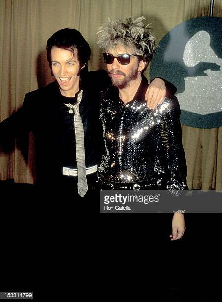 Musician Annie Lennox and Musician Dave Stewart attend the 26th Annual Grammy Awards on February 28, 1984 at Shrine Auditorium in Los Angeles,...