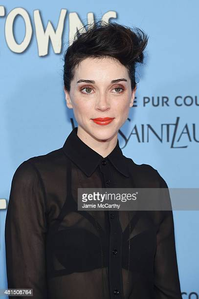 Musician Annie 'St Vincent' Clark attends the New York premiere of 'Paper Towns' at AMC Loews Lincoln Square on July 21 2015 in New York City