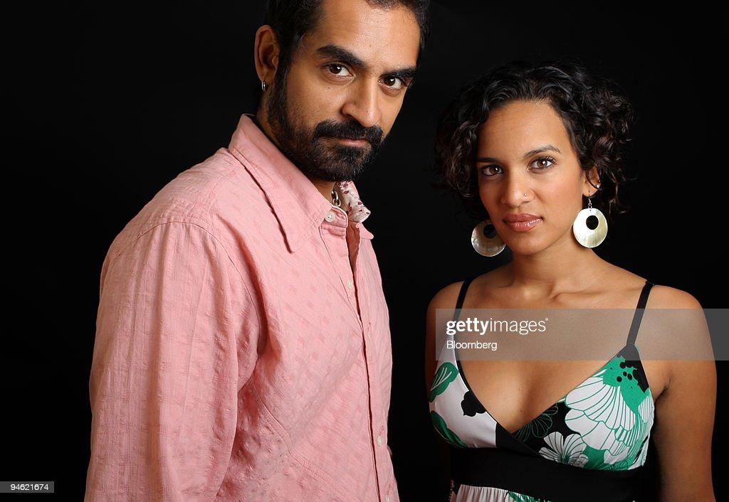 Musician Anoushka Shankar, right, and musician Karsh Kale