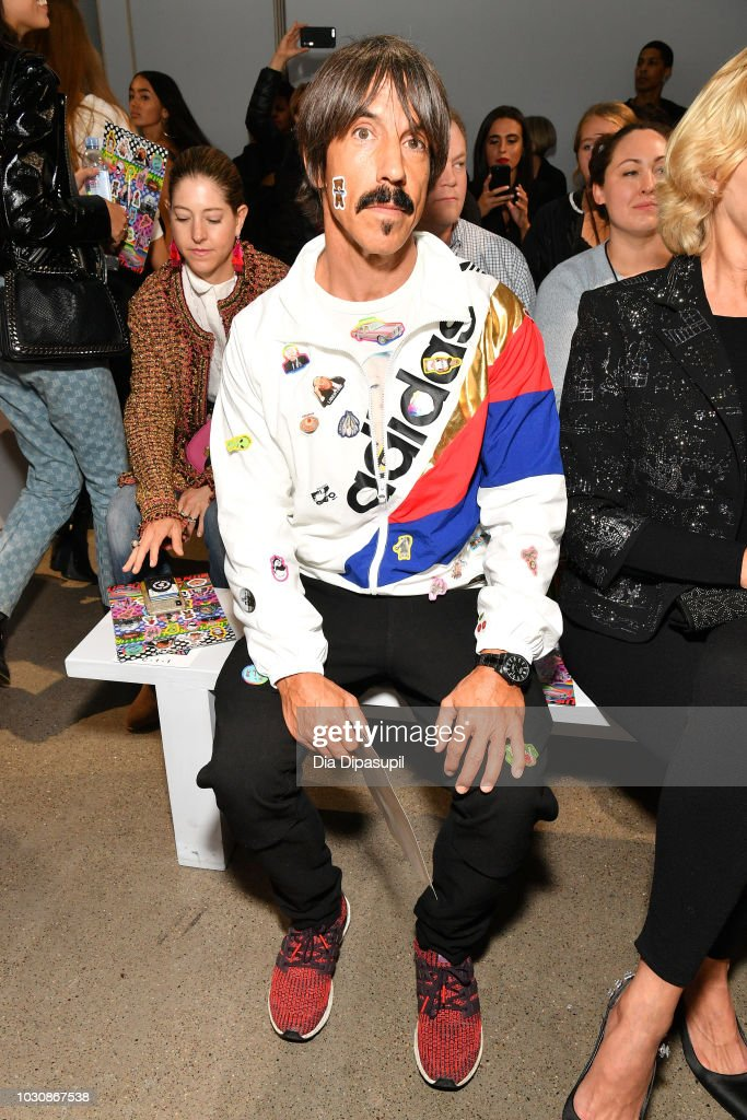 Musician Anthony Kiedis attends the Libertine front row during New York Fashion Week: The Shows at Gallery II at Spring Studios on September 10, 2018 in New York City.