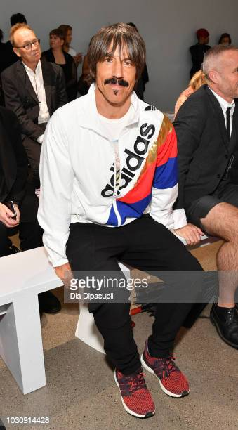 Musician Anthony Kiedis attends the Libertine front row during New York Fashion Week The Shows at Gallery II at Spring Studios on September 10 2018...