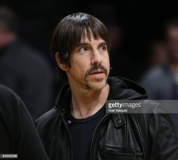 Musician Anthony Kiedis attends the Los Angeles Lakers v Charlotte Bobcats game at the Staples Center on January 27 2009 in Los Angeles California