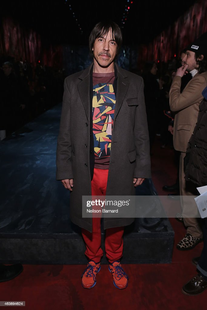 Musician Anthony Kiedis attends the Marc Jacobs fashion show during Mercedes-Benz Fashion Week Fall 2015 at Park Avenue Armory on February 19, 2015 in New York City.