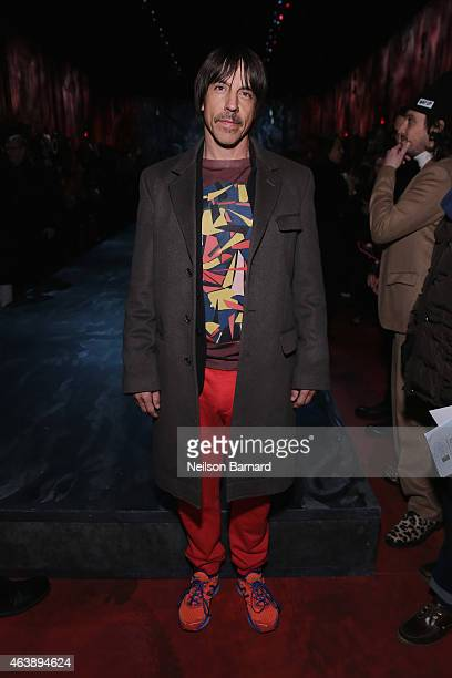 Musician Anthony Kiedis attends the Marc Jacobs fashion show during MercedesBenz Fashion Week Fall 2015 at Park Avenue Armory on February 19 2015 in...