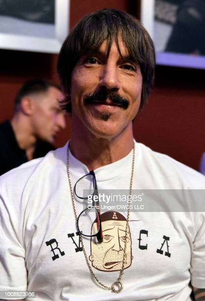 Musician Anthony Kiedis is seen in attendance during Dana White's Tuesday Night Contender Series at the TUF Gym on July 31 2018 in Las Vegas Nevada