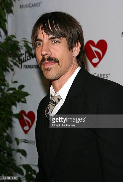 Musician Anthony Kiedis of the Red Hot Chili Peppers attends the 3rd Annual MusiCares MAP fund benefit at the Music Box in the Henry Fonda Theater on...