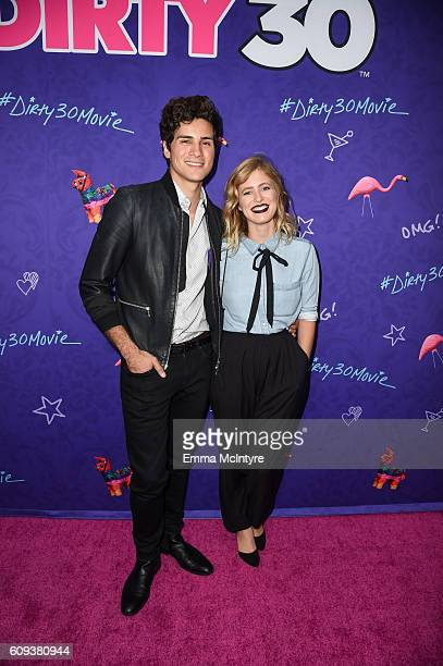 Musician Anthony Padilla and digital influencer Miel Bredouw arrive at the premiere of Lionsgate's 'Dirty 30' at ArcLight Hollywood on September 20...